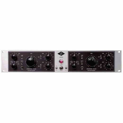 Preamplificador a tubo 610 de 2 canales, con ecualizador, pad, phase, y conexiones para micrófono, línea e instrumento.