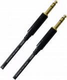 Cable Plug 1/4 TRS a Plug 1/4 TRS, Balanceado, Conectores Rean by Neutrik, soldado a mano, conectores 6.3 mm