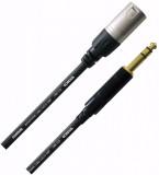 Cable XLR a Plug 1/4 TRS, Balanceado, Conectores Rean by Neutrik, soldado a mano, contactos chapados en oro