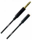 Cable extension Plug 6,3 mm TRS a Mini Plug 3,5 mm Hembra Balanceado, soldado a mano, conectores Rean by Neutrik