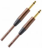 Cable Plug 1/4 TS a Plug 1/4 TS, Desbalanceado, Conectores Neutrik, Punta Dorada, cable trenzado