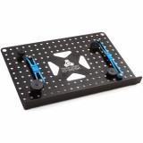 Soporte de plataforma de 2 mm en aluminio perforado, orificios de montaje roscados y sujetadores para dispositivos