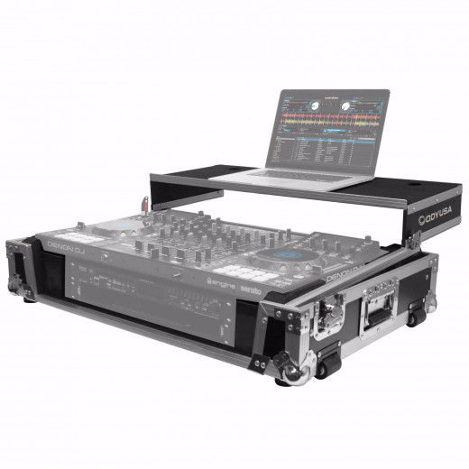 "Case Rigido para controlador Denon MCX8000 con rack 2U de 19"", serie Flight ZONE® GLIDE STYLE ™, panel frontal removible V-cut ™"