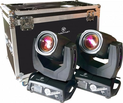 Lampara Osram 230W, Temperatura de color: 8200K, Ángulo de haz: 0-25°, Pantalla de control Touchscreen, rueda de gobos, prisma, rotacion ajustable