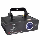 laser con motor de escaneo Micro-step, 532nm de longitud de onda, activacion por sonido, DMX512, 300 Efectos