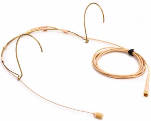 Micrófono miniatura de cintillo condensador cardioide, con cápsula DPA 4088-F, con su cable MicroDot y doble ¨earholder¨, color beige. 100Hz-20kHz, 144dB SPL.