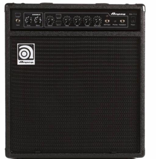 """Amplificador Combo Bajo 75W 1 x 12"""" con Eq de 3 bandas, Entrada Aux, Salida de auriculares, Scrambler de bajos, Atenuador -15dB"""
