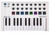 Controlador de teclado mini USB de 25 notas con 16 codificadores, 2 bancos de 8 almohadillas, bandas táctiles Pitch / Mod y 500 sonidos - Mac / PC / iOS