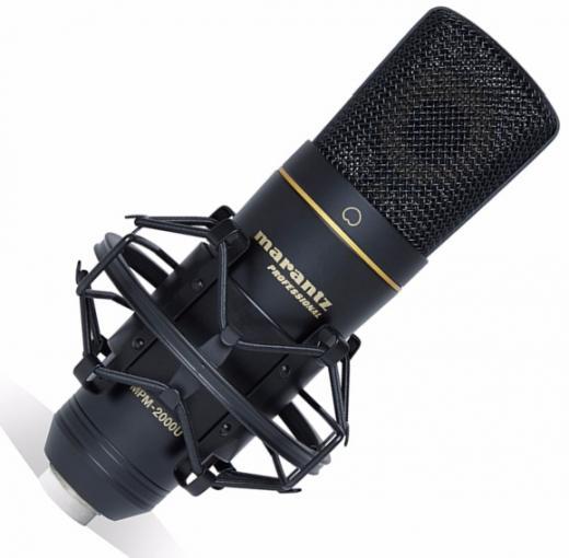 Micrófono condensador cardioide USB para grabación en estudio, con shockmount, cable USB y case tipo maleta. 20Hz-18kHz, conversor 48kHz/16-bit.