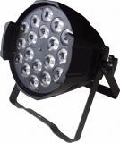 Par Led RGBWAP, Fuente de luz: lámparas LED 18 × 12W (6 en 1), Ángulo de haz: 25 ° / 40 °