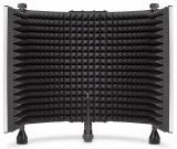 Filtro de reflexión vocal para grabacion, consta de 5 paneles de metal perforado de alta calidad (3 estacionarios, 2 plegables)