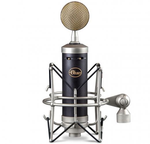 Micrófono condensador cardioide de diafragma grande para voces e instrumentos, con pad de -20dB, filtro pasa altos en 100Hz y case de madera. 134dB SPL.