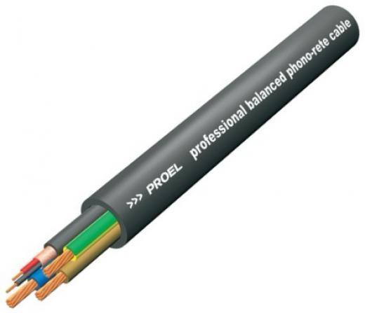 Cable alimentación y balanceado profesional con cubierta de PVC flexible.