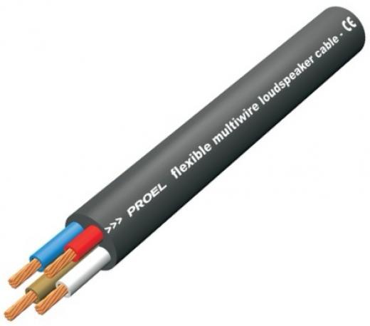 Cable de parlante ultraflexible de 4 conductores trenzados para altavoces pasivos, sección de 4 x 2,5 mm2