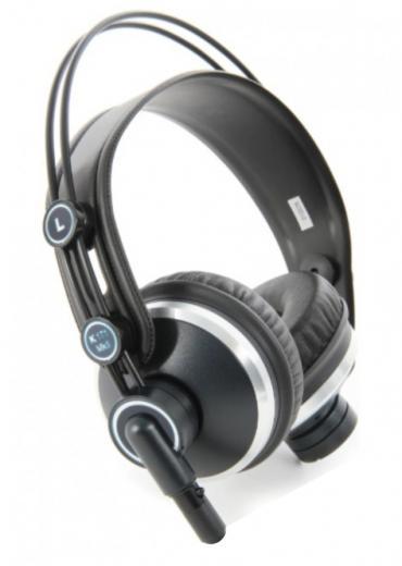 Audifonos dinámicos cerrados con rango de frecuencia de 18Hz-26kHz y cable recto de 25 cms desmontable y cable en espiral de 40 cms