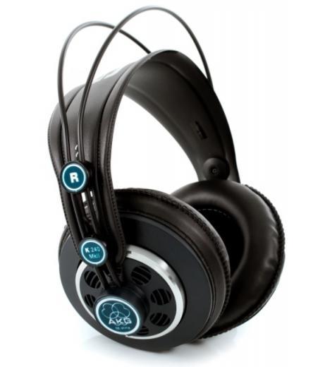 Audifonos semiabiertos, con diadema autoajustable y cable recto de 25 cms desmontable y cable en espiral de 40 cms
