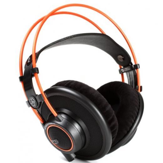 Audifonos abiertos con diseño, controladores combinados con bobinas de voz de cable plano, conector mini-xLR, cable en espiral adicional y bolsa de transporte