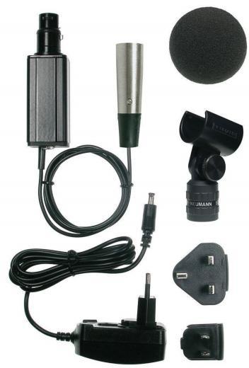 Conexión AES 42 a AES / EBU para mics digitales, formato de conexión sencillo, no necesita interfaz externa, incluye una fuente de alimentación