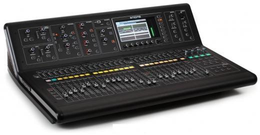 """Consola digital de 40 canales con 32 preamps Midas, 25 buses mezcla, 25 faders Midas Pro motorizados con más de 50 efectos incorporados, pantalla TFT de 7 """" y 32 canales, interfaz de audio USB 2.0 de 48 kHz"""