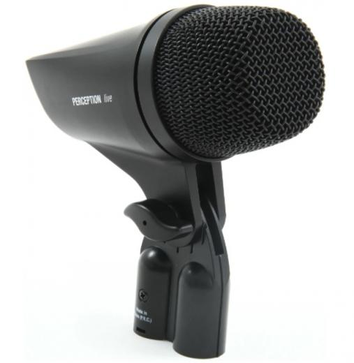 Micrófono dinámico diseñado para instrumentos de tono bajo, tambores y bombos