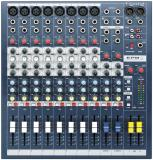 8 preamplificadores de micrófono, ecualizador de 3 bandas por canal y medición de peak con LED