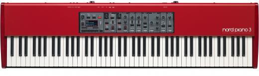 Piano de escenario de 88 teclas con teclado virtual Weighted Keybed, 1GB de memoria de muestra, triple pedal y efectos incorporados