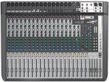 16 preamplificadores de micrófono, 3 buses auxiliares, ecualizadores británicos de 4 bandas, motores de efectos de léxicon dual, limitadores dbx, entradas hi-Z intercambiables, reproducción y grabación USB, Multitrack