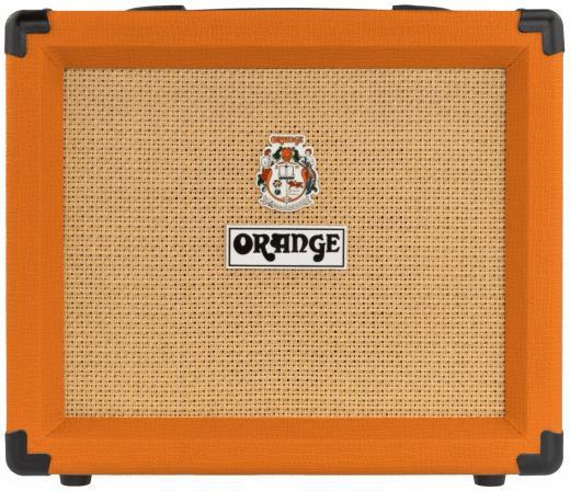 """Amplificador Combo de Guitarra de 20 watts y 2 canales de 1x8 """" con preamplificador de alta ganancia de 4 etapas y Circuito CabSim - Orange"""