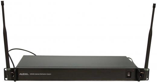 Sistema de distribución de antena: combina 4 sistemas de dos canales (8 canales) con un juego de antenas y una fuente de alimentación.