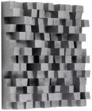 Superficie en ángulo, difusión bidimensional que se aplica con frecuencia a paredes o techos, para múltiples reflejos en planos verticales y horizontales