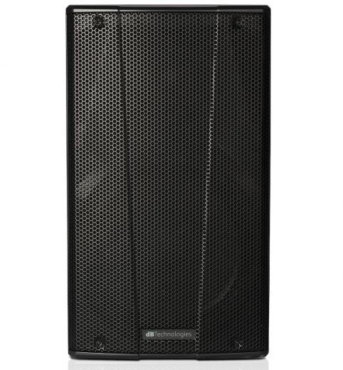 Amplificador CLASS D extremadamente eficiente con niveles de presión acústica agresivo hasta 126,5 dB, patrón de dispersión asimétrico en eje vertical