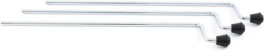 Set de 3 patas de 10.5mm de diametro, cromadas y soportes de goma antideslizante