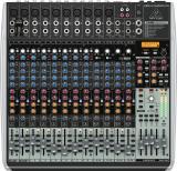 Mezclador de 16 canales, 4/2 bus con faders de 60 mm, ecualizador de 3 bandas, efectos integrados e interfaz de audio USB