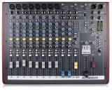 Mezclador de 14 canales con 8 canales de micrófono / línea, 3 canales estéreo, 2 guitarras DI, 16 efectos incorporados y USB