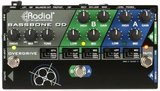 Pedal preamplificador de 2 canales con Overdrive, FX Loop, DI incorporado y amplificador de auriculares