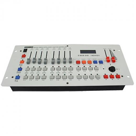 192 canales DMX, controla 12 luces DMX, 16 canales para cada luz