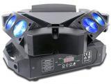 Fuente de luz de 9 × 10w Cree, RGBW 4 en 1, Angulo Beam de 4.5 °, Modo de control DMX512, Auto, control master/slave