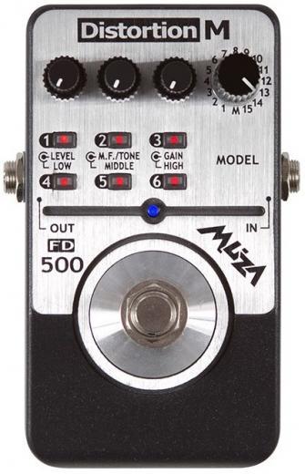 distorsion digital de múltiples pedales de efecto, contiene 15 tonos y modelos de distorsion de guitarra, función de almacenamiento hasta 6 memorias preguardadas