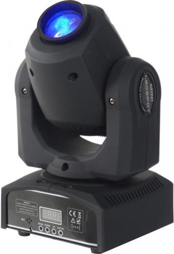 Fuente de luz: Led 30W de alto rendimiento, Temperatura de color: 6000-6500K, Ángulo de haz: 13 °, activación por sonido, automático, master / slave , DMX512
