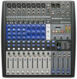 Mezclador 4 canales mono, 4 canales estéreo, 8 preamps de mic, eq semiparamétrico de 3 bandas, alimentación Phantom de +48 V, transmisión Bluetooth 4.1, grabadora de tarjeta SD integrada