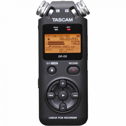 Grabador portátil estéreo con micrófonos omnidireccionales incorporados y ranura tarjeta microSD