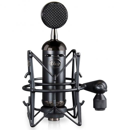 Micrófono condensador cardioide de diafragma grande para voces e instrumentos, con pad de -20dB, filtro pasa altos y case de madera. 136dB SPL, 20Hz - 20kHz.