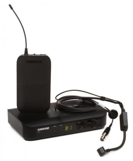Sistema inalámbrico de cintillo de la serie BLX con micrófono condensador cardioide, transmisor de cuerpo y receptor, Frecuencia J-10: 584 - 608 MHz