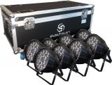 8 Par Led RGBWAP, Fuente de luz: lámparas LED 18 × 12W (6 en 1), Ángulo de haz: 25 ° / 40 °
