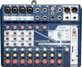 Mezclador analógico de 12 canales con 4 preamplificadores de micrófono, entrada directa, alimentación phantom, 3 canales estéreo de nivel de línea, efectos digitales léxicon y conectividad USB