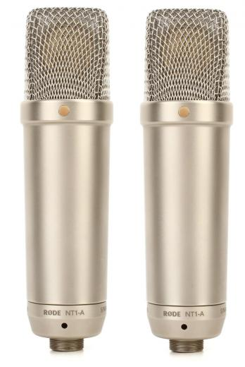 Par mics estéreo combinado de diafragma grande, micrófonos de condensador cardioide