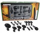 Paquete de 7 piezas de micrófono de percusión con Shure PGA52, 3 Shure PGA56s, Shure PGA57, 2 PGA81, clip, soportes, cables y estuche