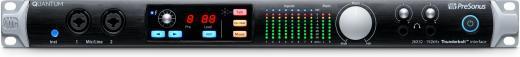 Interfaz de audio Thunderbolt 2 de 24 bits / 192kHz y 26 entradas / 32 salidas con 8 preamplificadores XMAX, entradas y salidas digitales ADAT óptica y S / PDIF y consola central con Talkback