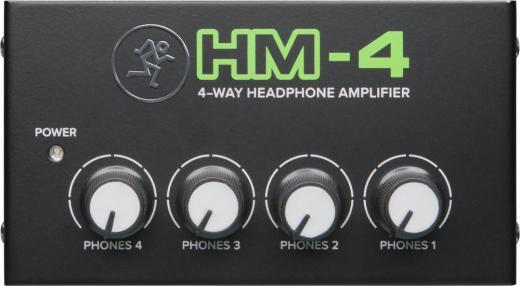 Amplificador de auriculares de 4 canales con controles de nivel individuales