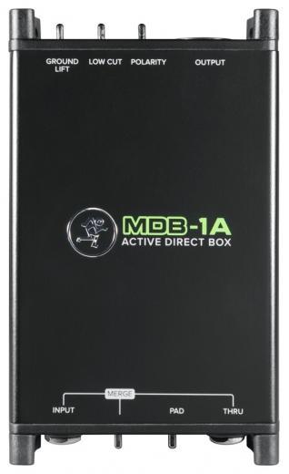 """Ideal para instrumentos activos como guitarras y bajos, entrada de alta impedancia de 1/4"""", -dB Pad, salida XLR"""